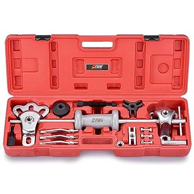 EWK 16PCS Slide Hammer Puller Set Front Wheel Hub Bearing Remover & Rear Wheel Axle Shaft Puller Tool Kit: Automotive