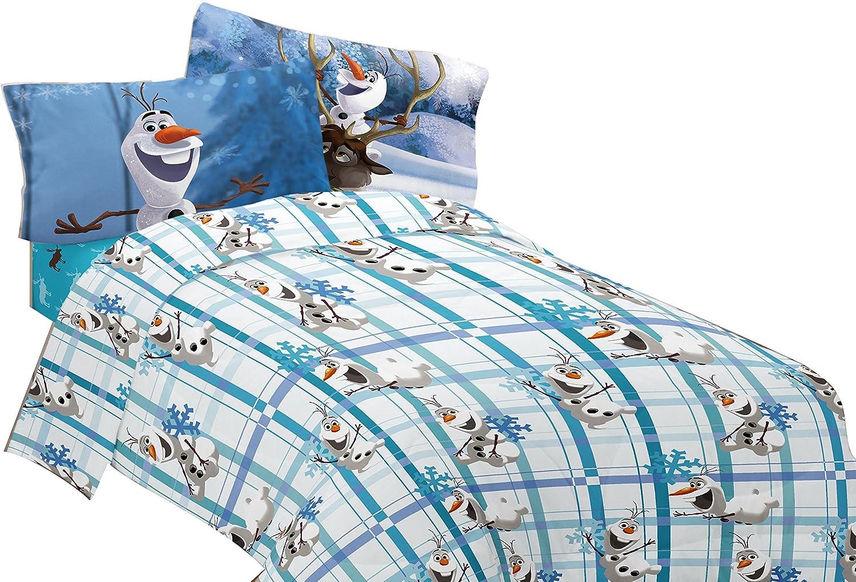 Disney Frozen Build A Snowman Size FULL Boys Girls Kids Bedding Flat Sheet Only