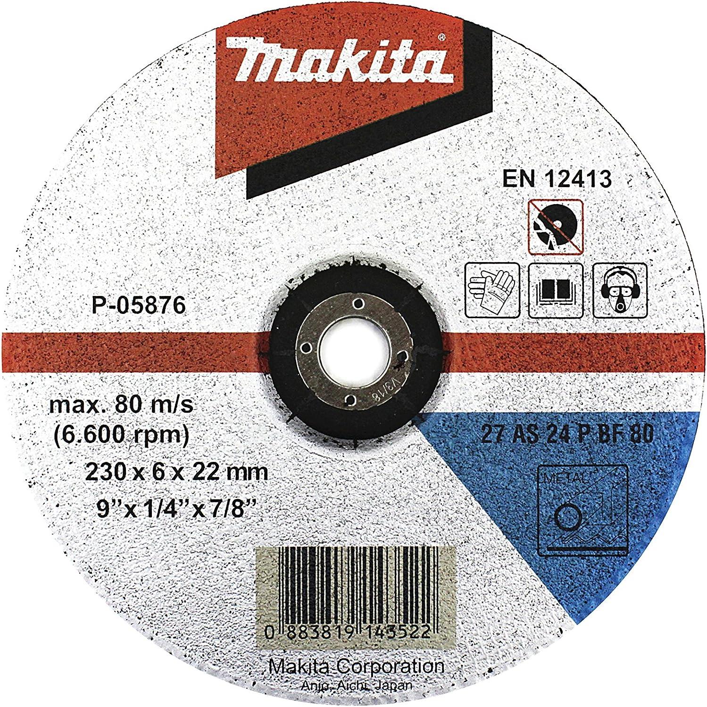 Makita P-05876 - Desbaste 230x6mm 5 pack: Amazon.es: Bricolaje y ...