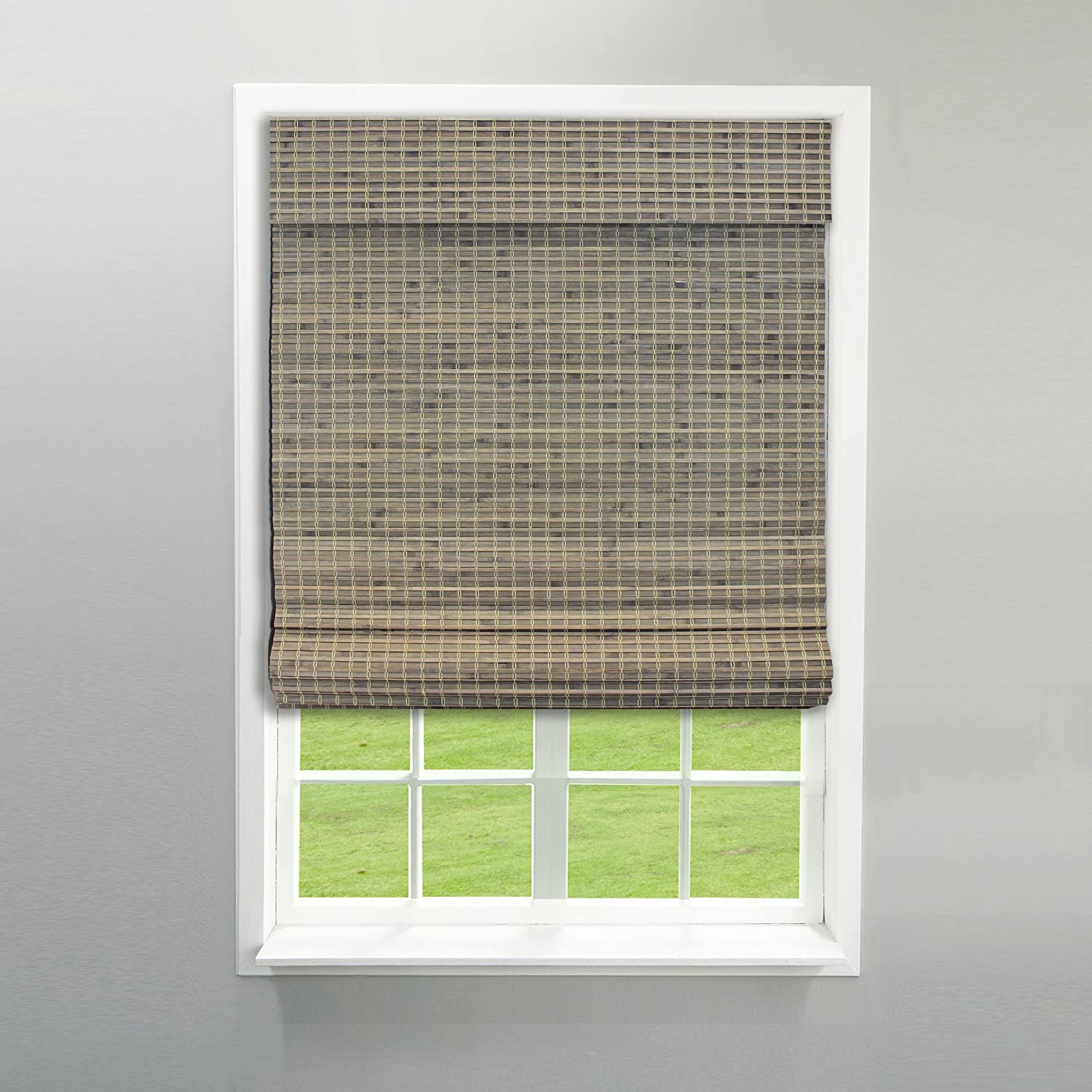 RADIANCE 2208856E Cordless Roman Shade, 31 Width by 64-inch Height, Driftwood