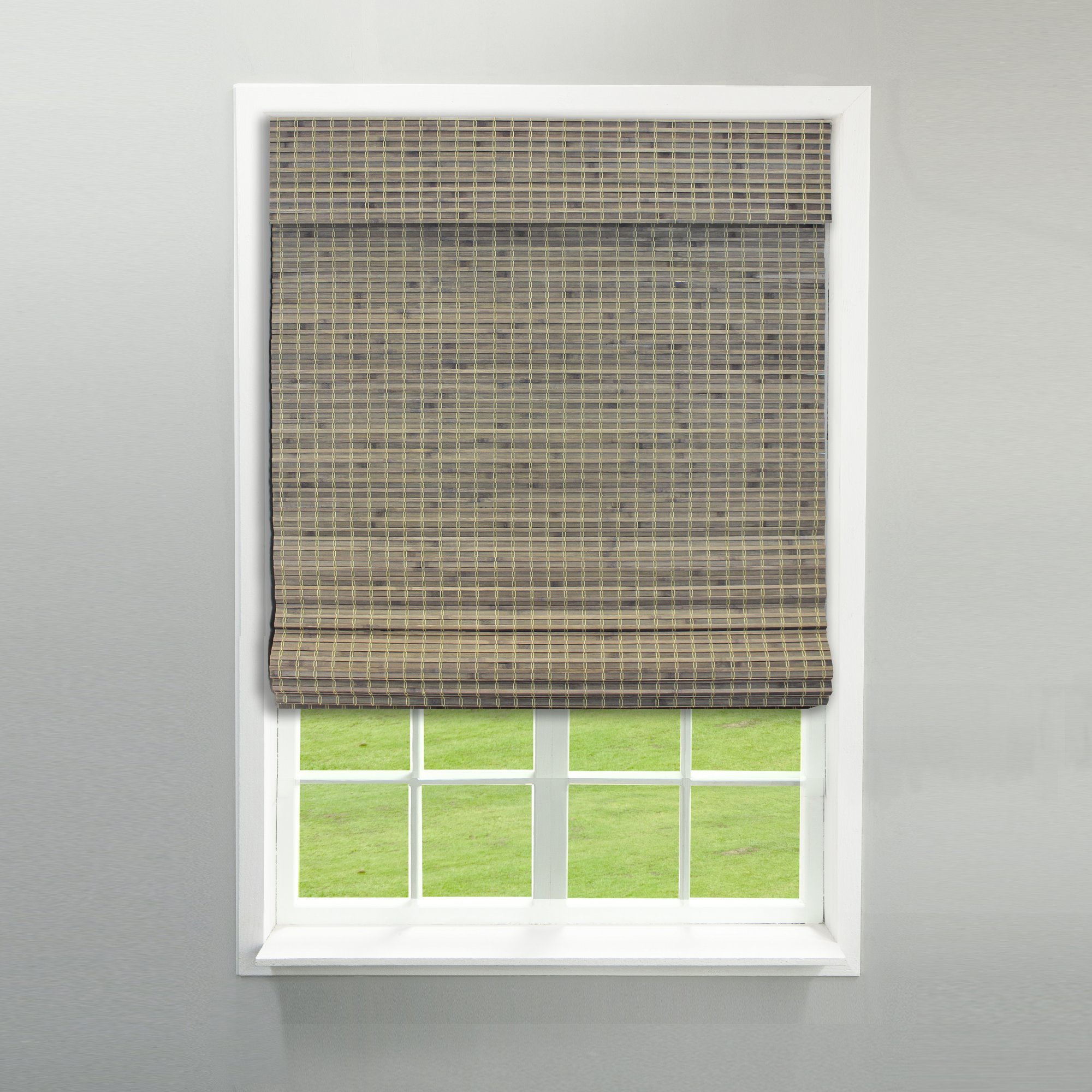 RADIANCE 2208858E Cordless Roman Shade, 34'' W x 64'' L, Driftwood by RADIANCE