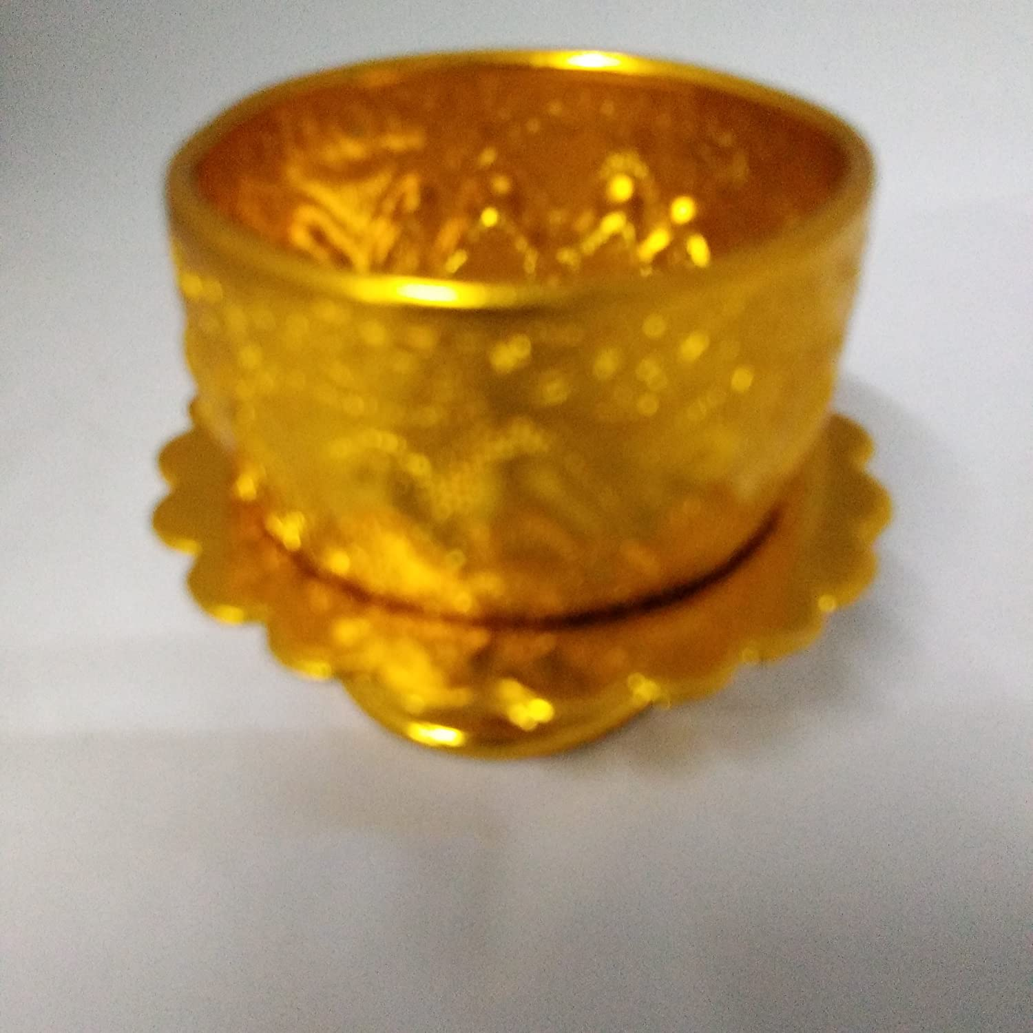 thaisan7 SMALL GOLD COLOR BOWL /&TRAY WATER FOR DRINKING THAI ANTIQUE COLLECTION,Small Side,Tray Dish Plate bowl Dishes,Tool