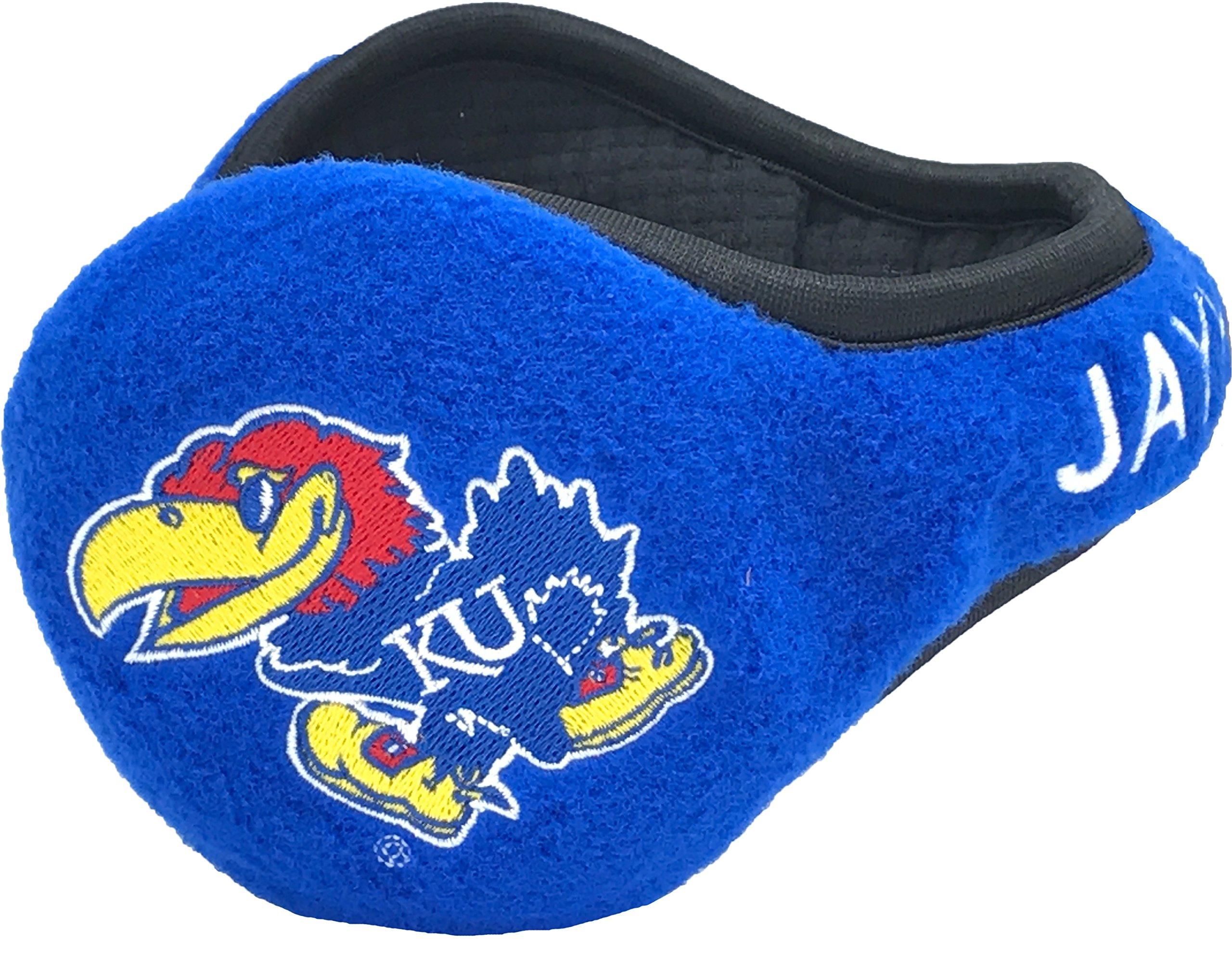 180s Kansas Jayhawks Behind-the-Head Ear Warmer, Unisex, One Size Fits Most, Blue