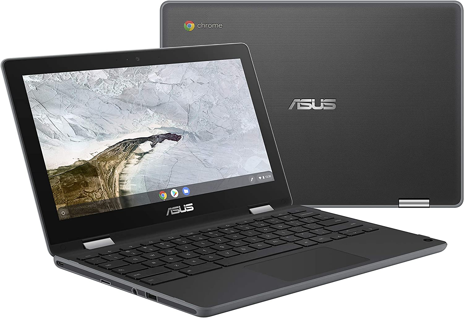 "ASUS Chromebook Flip C214 2-In-1 Laptop-11.6"" Ruggedized and Spill Resistant Design with 360 Degree Touchscreen, Intel N4000, 4GB LPDDR4 RAM, 32GB Storage, Chrome OS, Built-In Stylus- C214MA-YS02T-S"