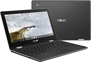 "ASUS Chromebook Flip C214 2-In-1 Laptop- 11.6"" Ruggedized and Spill Resistant 360 Degree Touchscreen, Intel Celeron N4000, 4GB LPDDR4 RAM, 32GB Storage, HD 5M Pixel Camera, Chrome OS- C214MA-YS02T"