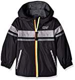 LONDON FOG Boys' Big Chest Strip Poly Lined Jacket, Real Gray, 10/12