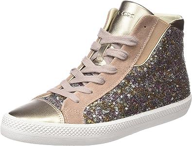 Meloso Sabio Espectador  Amazon.com: Geox Women's D Giyo a Hi-Top Trainers, Silver (Silver), 3 UK:  Shoes