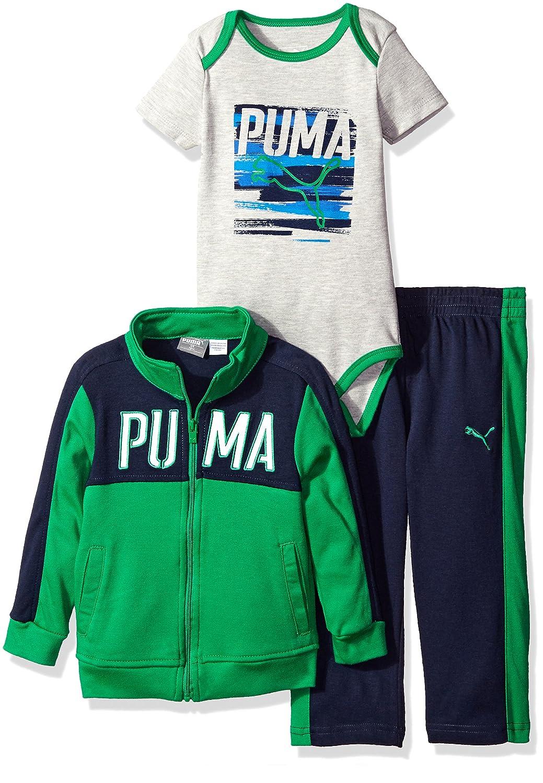 08a0c7cc PUMA Baby Boys' 3-Piece Zip up Jacket, Bodysuit, and Pant Set
