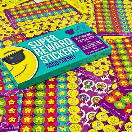 Toddler Reward Stickers - 5 sheet Children Cute Owl Giraffe Reward Stickers  School Teacher Merit Praise