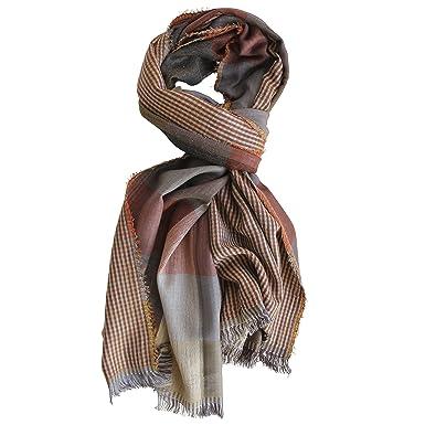 FERETI Echarpe De Soie Pour Homme Orange Ocre Pashmina Très Douce E Chaude Tissu  Double  Amazon.fr  Vêtements et accessoires e61867c9051