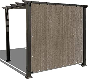 Alion Home Sun Shade Panel Privacy Screen with Grommets on 4 Sides for Outdoor, Patio, Awning, Window Cover, Pergola (5' x 6', Walnut)