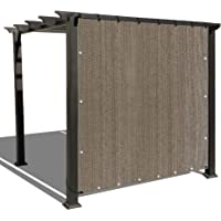 Alion Home Sun Shade Panel Privacy Screen with Grommets on 4 Sides for Outdoor, Patio, Awning, Window Cover, Pergola (3' x 6', Walnut)