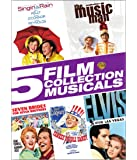 Singin' in the Rain / The Music Man / Seven Brides For Seven Brothers / Yankee Doodle Dandy / Elvis-Viva Las Vegas (5 Film Collection Musicals)