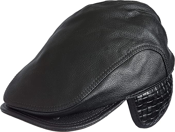 a5cf3d767e9 Allen Leather Ivy Cap with Shearling Earflaps at Amazon Women s ...