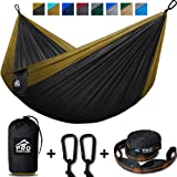 Amazon Price History for:Double Camping Hammock - XL Hammocks, FREE Premium Straps & Carabiners - Lightweight + Compact Parachute Nylon - Backpacker Approved and Ready for Adventure! 400LB - 10.5ft x 6.5ft