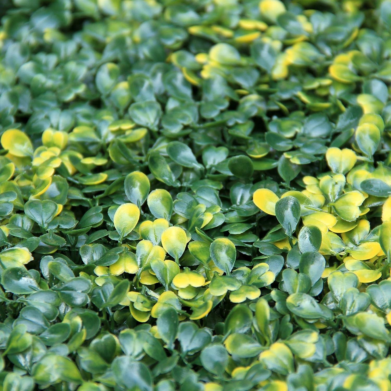Uland 12 Künstliche Gelb Buchsbaum Hecken Platten UV Dekorative