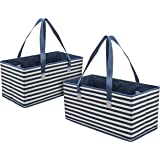 Planet E Reusable Grocery Shopping Bags Trunk Size Extra Large Collapsible Boxes with Reinforced Bottoms Made of…