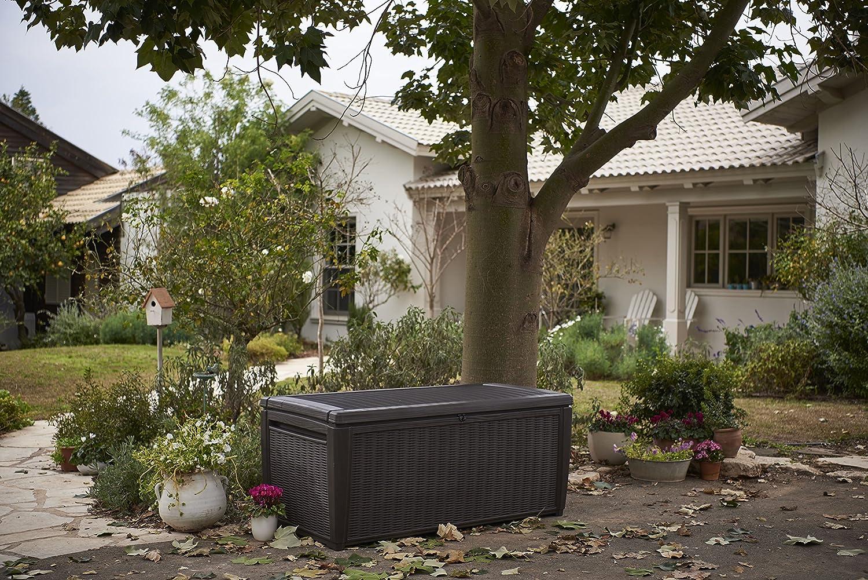 Keter//chalet et jardin 12-924840 Coffre de Rangement pour Jardin PVC Marron 511 L