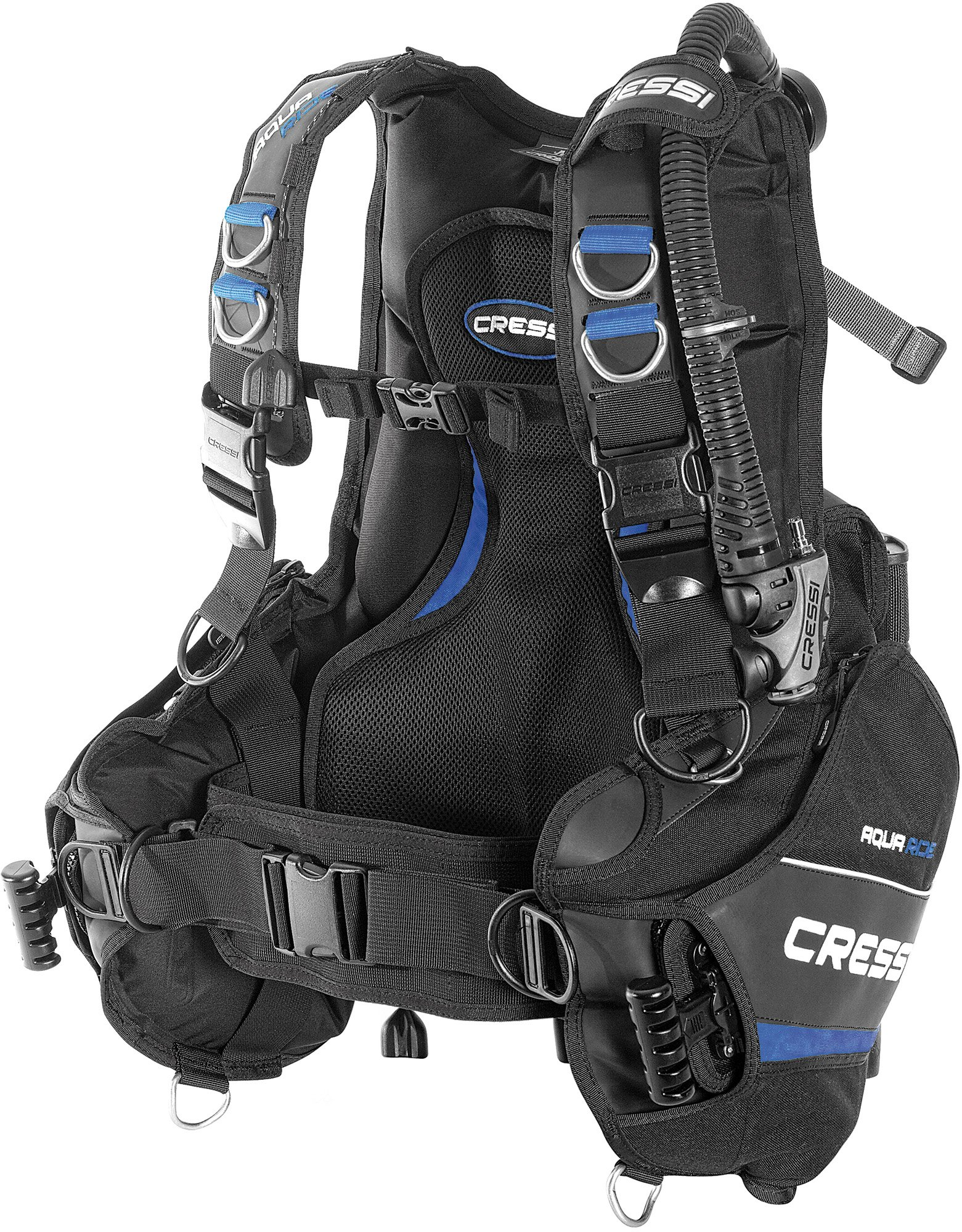 Cressi Aquaride Pro, Buoyancy Compensator Device Blue, made in Italy (X-Small)