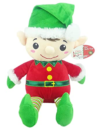16inch Soft Large Elf Toy - Arthur and Martha the Christmas Elves ...