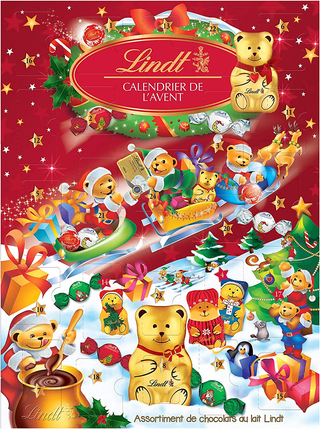 Calendrier Lindt ours pas cher