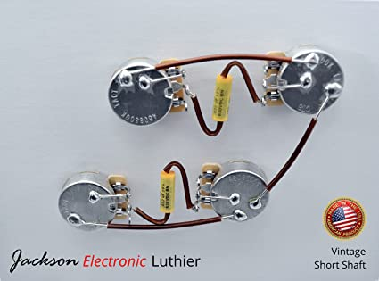 Amazon.com: Les Paul Wiring Harness Mallory 150 Mustard .022 uF Caps on