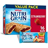 Kellogg's Nutri-Grain, Soft Baked Breakfast Bars, Strawberry, Made with Whole Grain, Value Pack, 20.8 oz (16 Count)