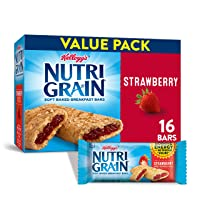 Kellogg's Nutri-Grain Soft Baked Strawberry Breakfast Bars - School Lunchbox Snacks...