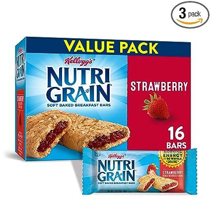 Barra de cereales Nutri-Grain de Kelloggs: Amazon.com ...