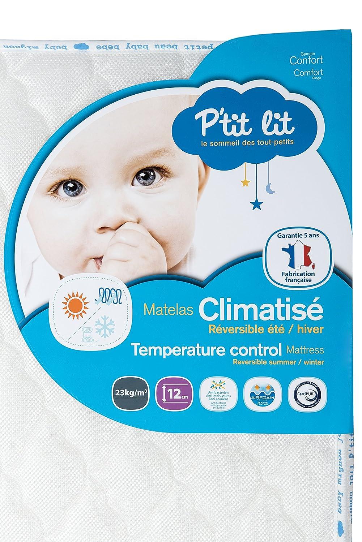 P'tit Lit - Matelas bébé Climatisé - 60 x 120 x 12 cm - Eté Hiver - Anti-acariens - Premium - Fabrication française P' tit Lit 23505 6