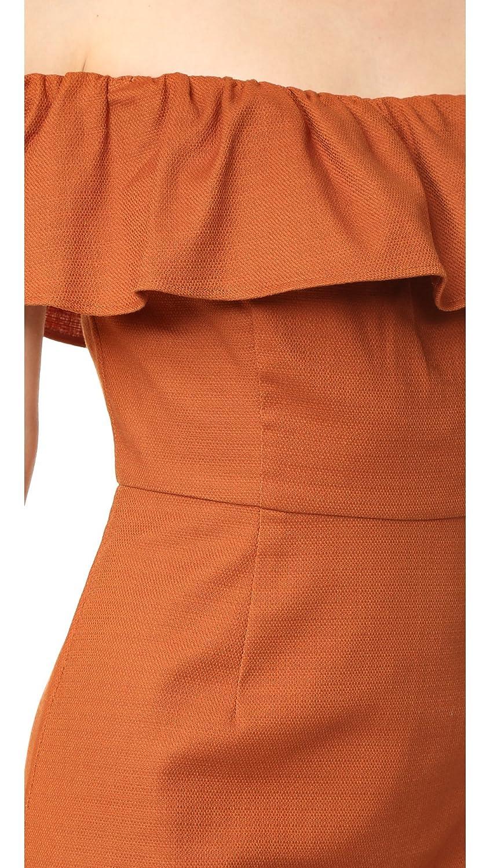 Amazon.com  KENDALL + KYLIE Women s Ruffle Off Shoulder Dress ... 072afeddd