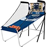 Shootout Basketball Arcade Game, Home Dual Shot with LED Lights and Scorer - 8-Option Interactive Indoor Basketball Hoop…