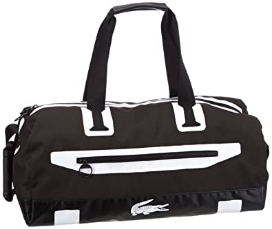 59f0f746c Lacoste Mens Medium Gym Bag Shoulder Bag Black Schwarz (Black) Size:  48x21x25 cm (B x H x T): Amazon.co.uk: Shoes & Bags