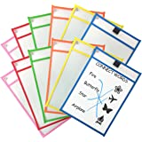 Clipco Dry Erase Pocket Sleeves Assorted Colors (12-Pack)