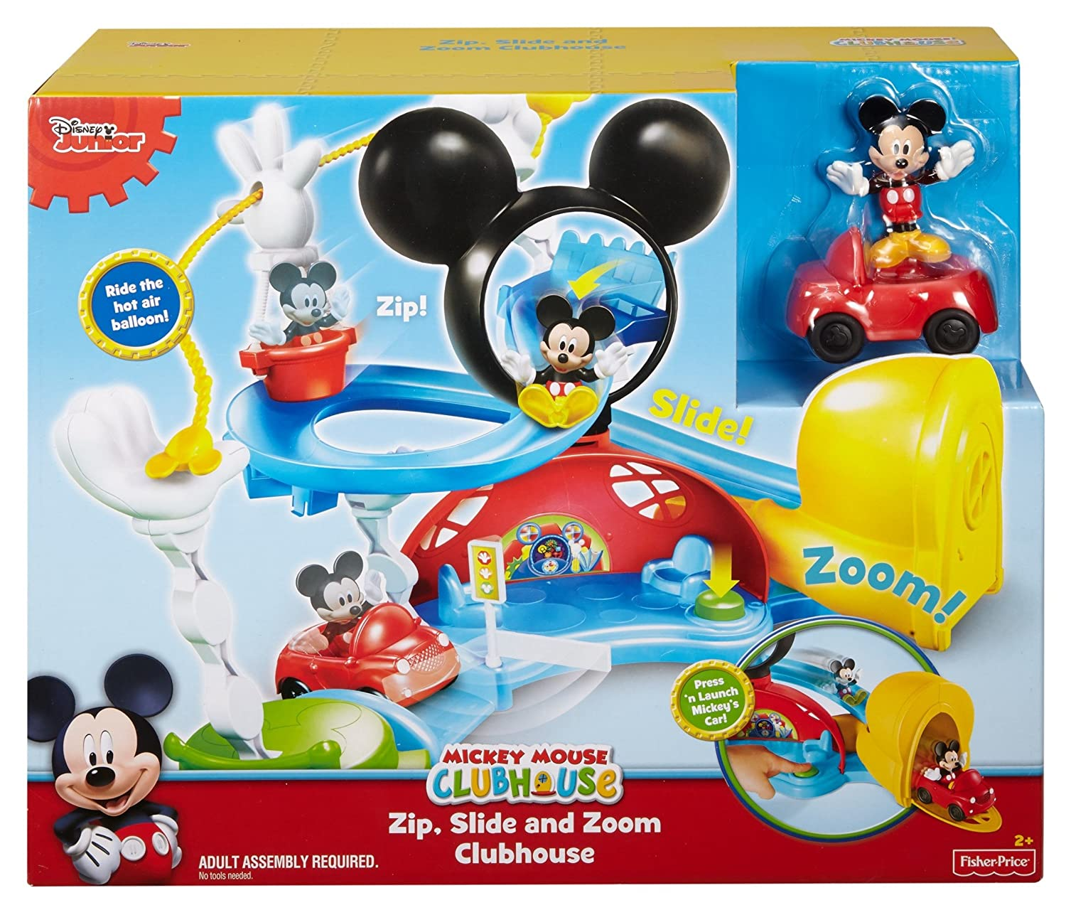 Amazon.com: Fisher-Price Disney Junior Mickey Mouse Clubhouse Zip ...