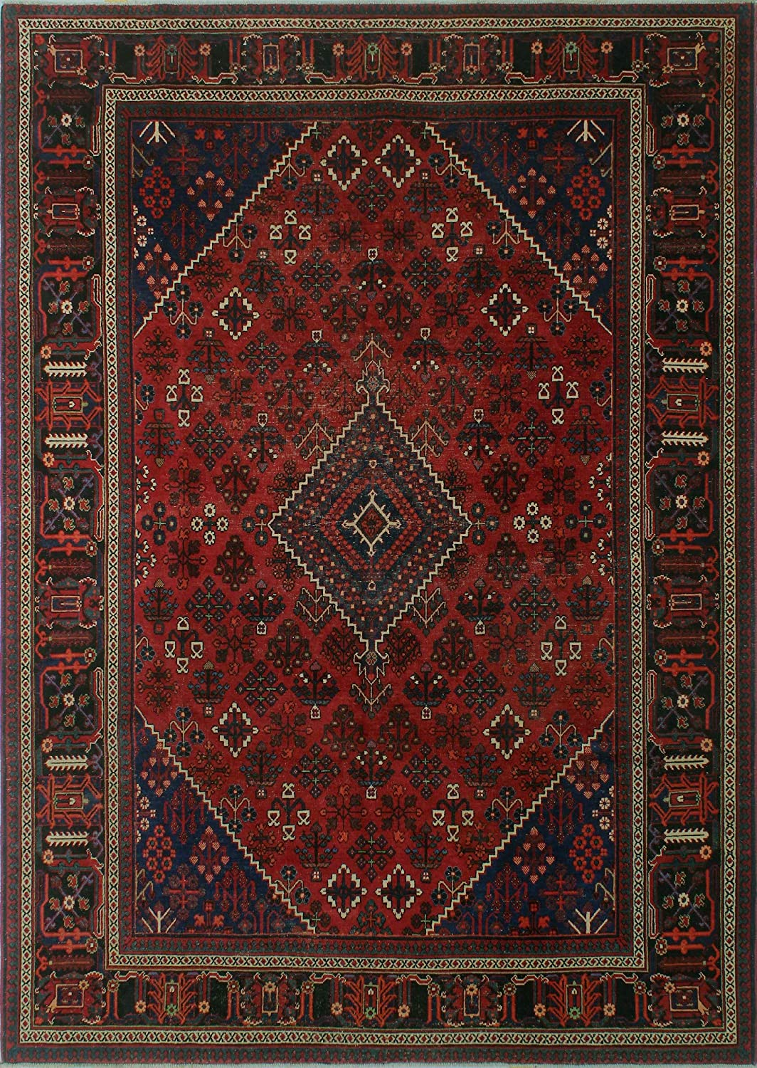 Amazon Com Noori Rug Vintage Distressed Beatrice Area Rug Red Furniture Decor