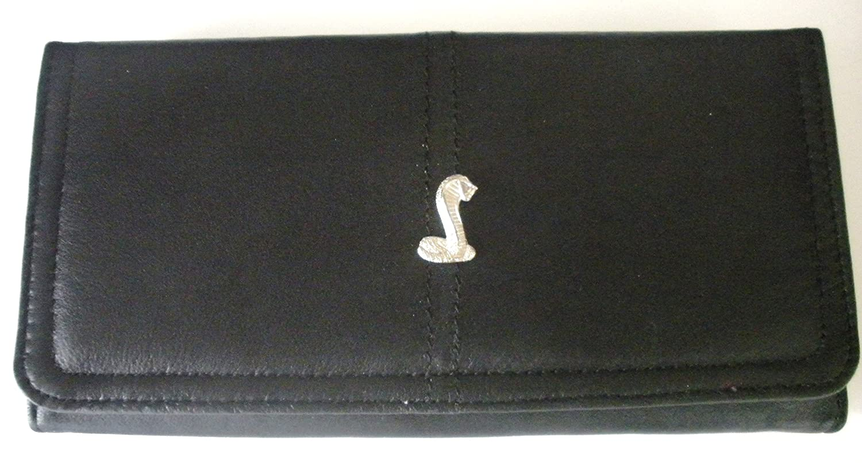 Mustang Cobra Black Calfs Skin Ladies Italian Leather Wallet