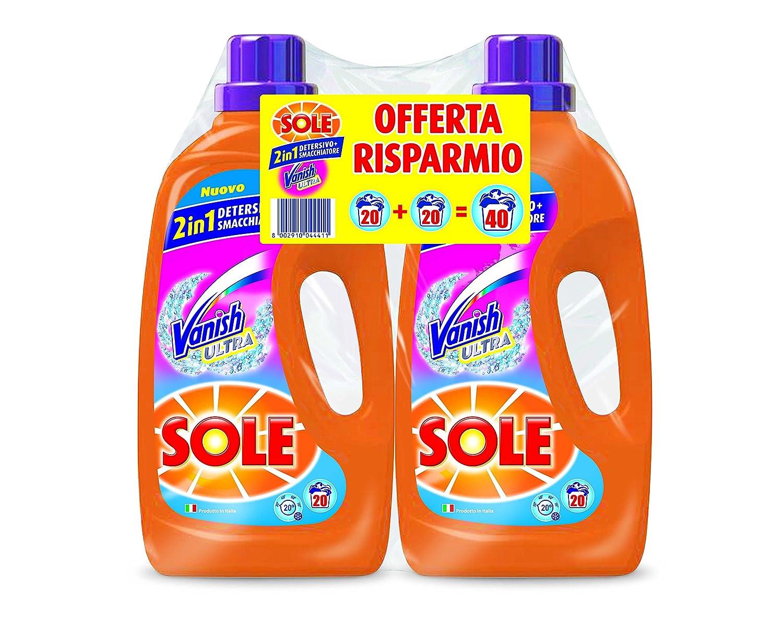 Sole - Detergente líquido para lavadora con agentes quitamanchas ...