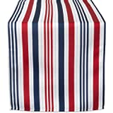 DII 100% Polyester, Spill Proof, Machine Washable, Stripe Patriotic, 14x72