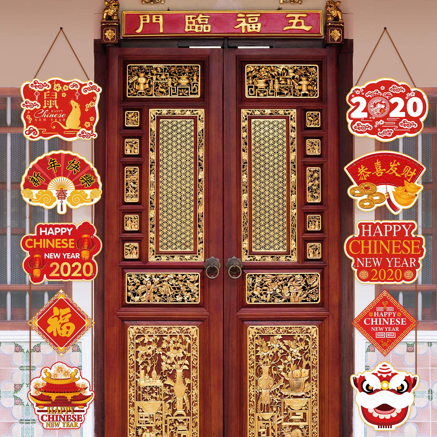 Chinese New Year Decorations 2020 Year of Rat Party Signs ...