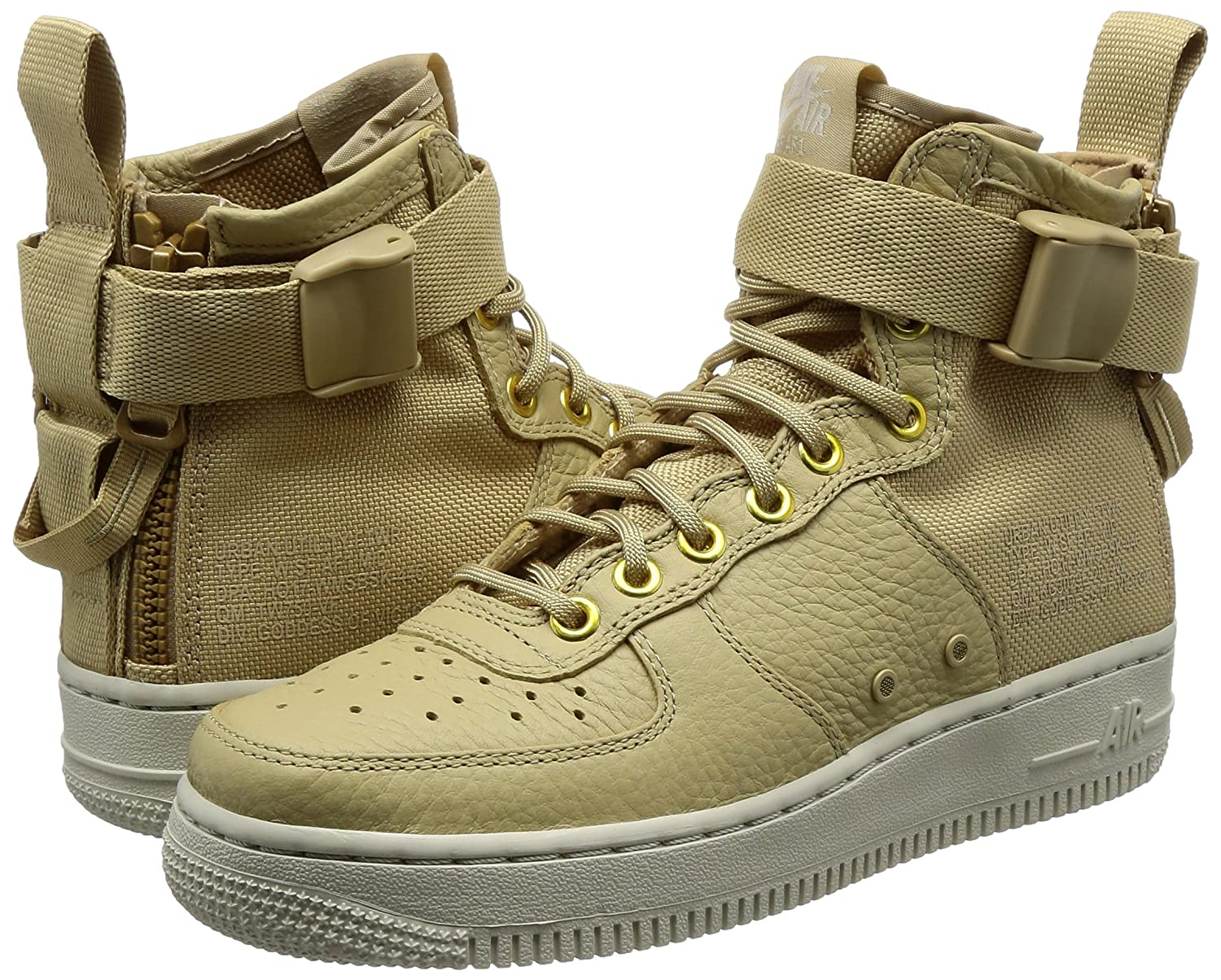the best attitude 19b32 6e357 NIKE SF Air Force 1 MID Womens Shoes Mushroom Light Bone Champignon aa3966- 200  Amazon.co.uk  Shoes   Bags