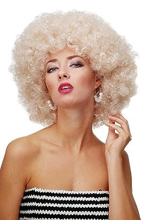 WIG ME UP ® - Peluca afro rubio claro dorado Funk Disco años 70 años 80