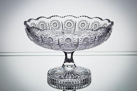 "Amazon.com: Bohemia vidrio Footed vase-bowl 8"" -dia ..."