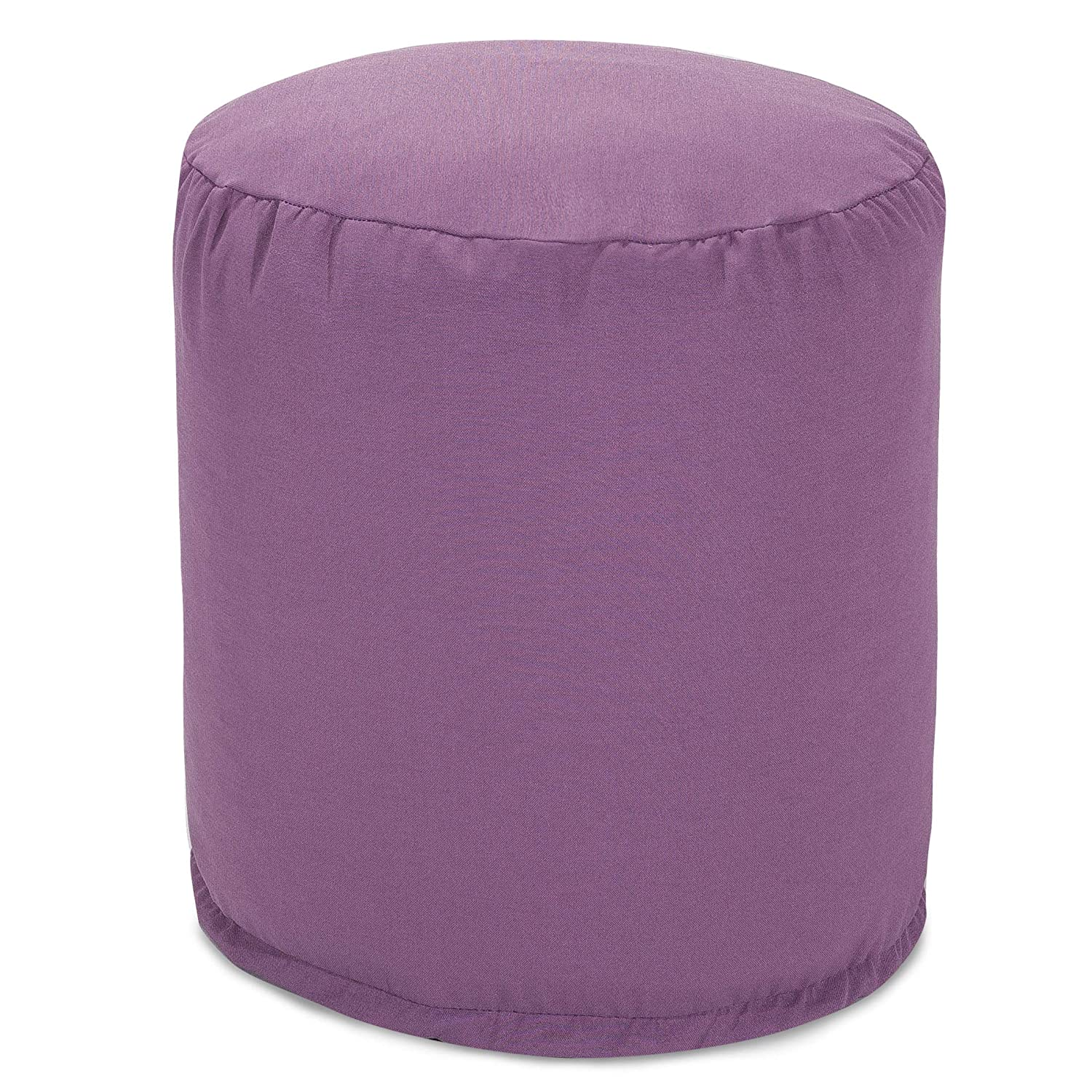 Majestic Home Goods Teal Solid Indoor/Outdoor Bean Bag Ottoman Pouf 16 L x 16 W x 17 H Majestic Home Goods LG 85907239036
