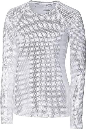 Cutter & Buck Annika Women's Stretch UPF 50+ Metallic Long Sleeve Solar Guard Shirt