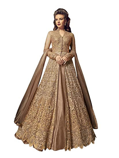 15198745d1 Perfect Resource Beige Heavy Designer Indo-Western Suit: Amazon.in: Clothing  & Accessories