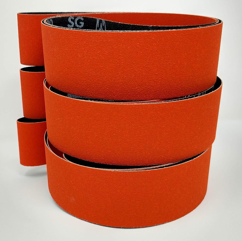 "2/"" x 72/"" Ceramic Fast Cut 36 Grit  Sanding Belts 3 Belts"