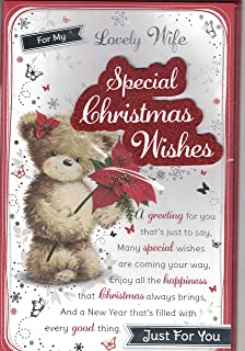 Wife christmas card for my very special wife happy christmas with wife christmas card happy christmasto my beautiful wife santa bears christmas garland m4hsunfo