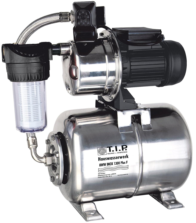 T.I.P. 31155 Central de agua doméstica HWW Inox 1300 Plus F de acero inoxidable