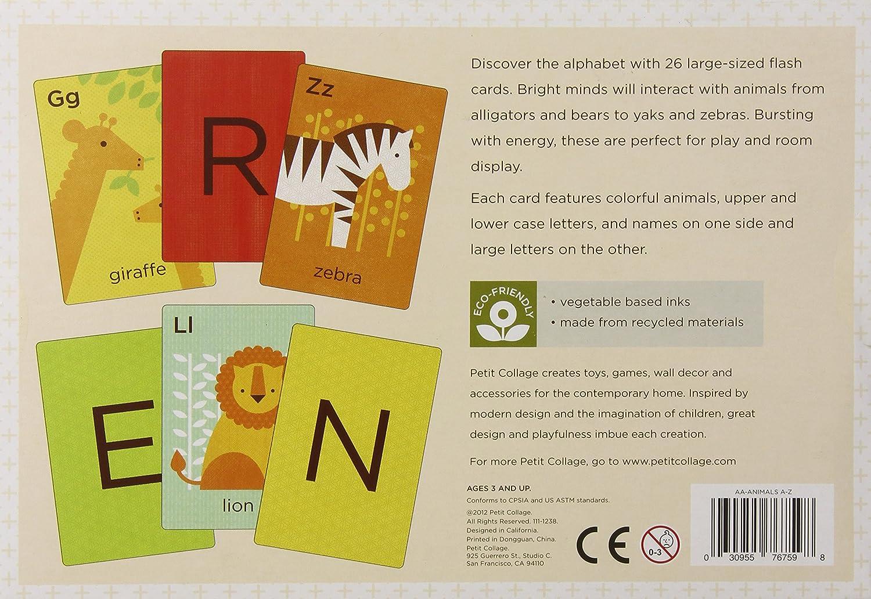 Amazon.com: Petit Collage Alphabet Art Cards, Animals A-Z: Baby